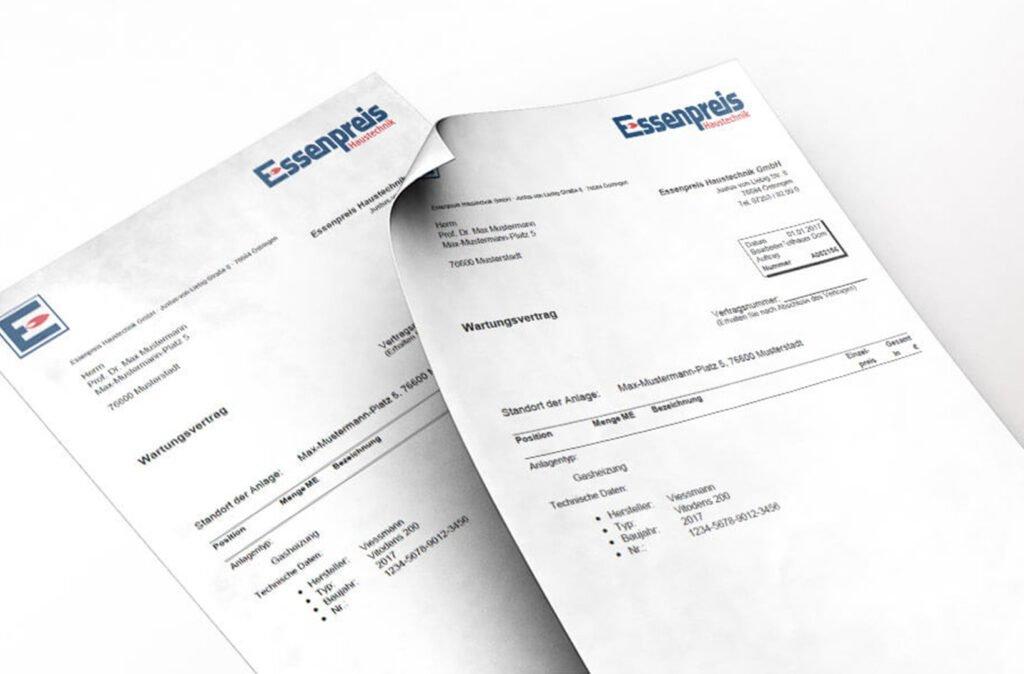 Kundendienst - Wartungsvertrag - 01