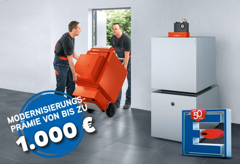 Bis zu 1.000,- Euro Viessmann Modernisierungsprämie für Öl-Brennwertheizung mit Solar sichern!